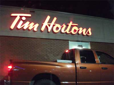 Tim Hortons Pylon Signs